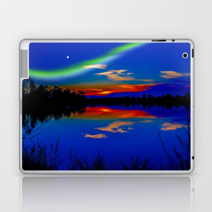 North light over a lake Laptop & iPad Skin