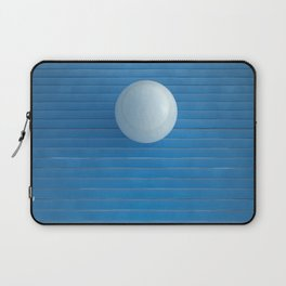 white on blue Laptop Sleeve