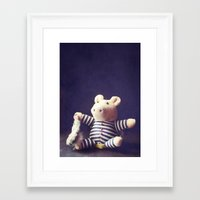 hug Framed Art Prints featuring Hug by Sybille Sterk