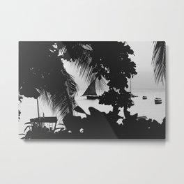 Black and White Summer Metal Print