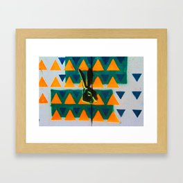 Triangle Rabbit Street Art Framed Art Print