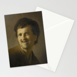Bust of a Laughing Young Man, Rembrandt Harmensz. van Rijn, c. 1629 - c. 1630 Stationery Cards