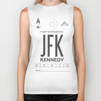 jfk Biker Tanks featuring JFK TAG  by Studio Tesouro