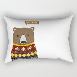 Sweater Bear  Rectangular Pillow