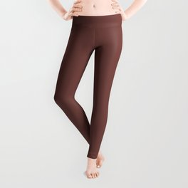 Tread Lightly ~ Reddish-Brown Leggings