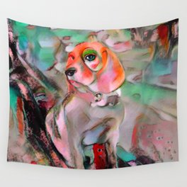 The Offended Beagle Wall Tapestry