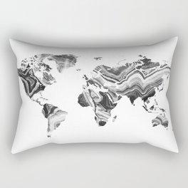 world map agate marble texture Rectangular Pillow