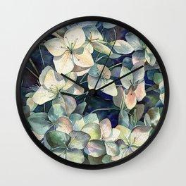 Summer hydrangea Wall Clock