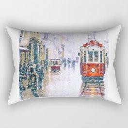 Istanbul Nostalgic Tramway Rectangular Pillow