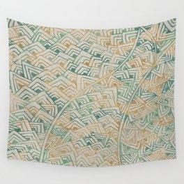 Color Burn Shard Wall Tapestry