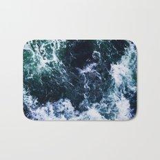 Wild ocean waves Bath Mat