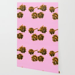 Palmy Skies Wallpaper