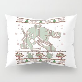 Hockey Goalie Christmas Pillow Sham