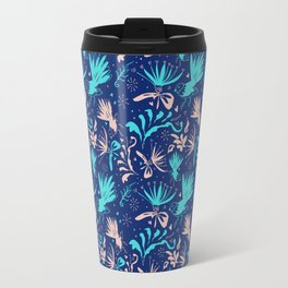 Fantail Frolic Blue Pattern Travel Mug