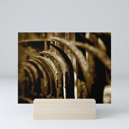 Rustic Fence-Sepia Mini Art Print