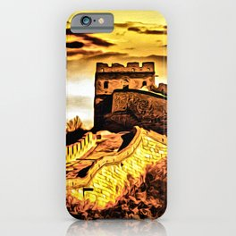 Golden Hour at The Great Wall iPhone Case