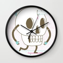 As I Skate through the Valley of Death Wall Clock