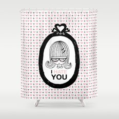 I Hate You / Picture Shower Curtain