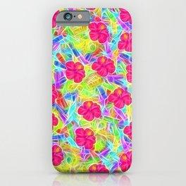 Hawaiian Pink Flowers iPhone Case