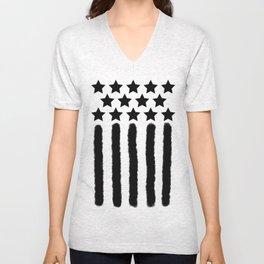 Dark USA Unisex V-Neck