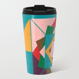 wind rose teal Travel Mug