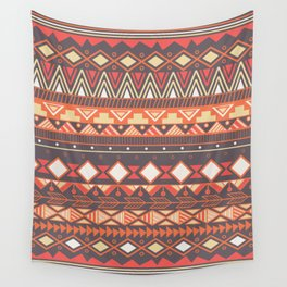 Aztec tribal pattern in stripes, vector illustration Wall Tapestry