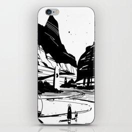 PHAZED landscape sketch iPhone Skin