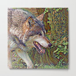 SmartMix Animal- Wolf 2 Metal Print