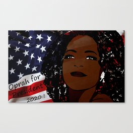 Oprah for president 2020 Canvas Print