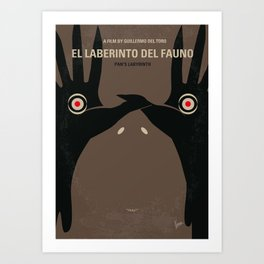 No061 My Pans Labyrinth minimal movie poster Art Print