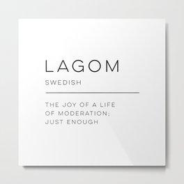 Lagom Definition Metal Print