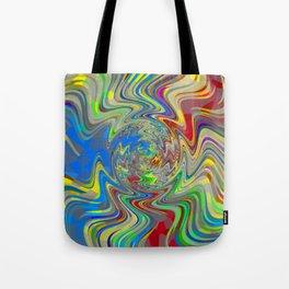Vibrant Abstract Whirl Pool Tote Bag