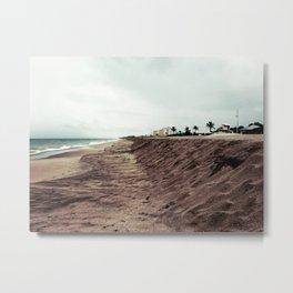 Empty Florida beach before a storm Metal Print