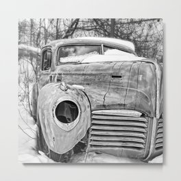 Old Hudson in the Snow Metal Print