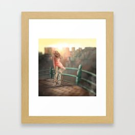Keep your balance! Framed Art Print