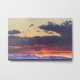 Crazy Mountain Sunset Metal Print