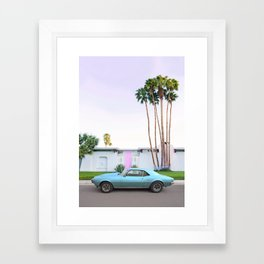 Palm Springs Pink Door Framed Art Print