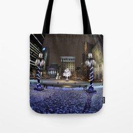 The Perfect City Winter Scene Tote Bag
