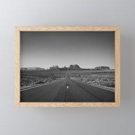 Road to Monument  Framed Mini Art Print