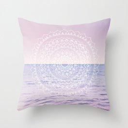 Blissful Ocean Dream Mandala #1 #pastel #wall #decor #art #society6 Throw Pillow