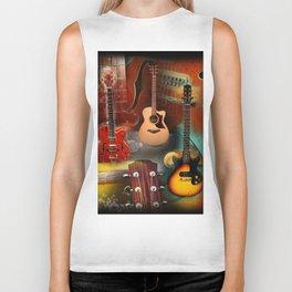 The guitar collage Biker Tank