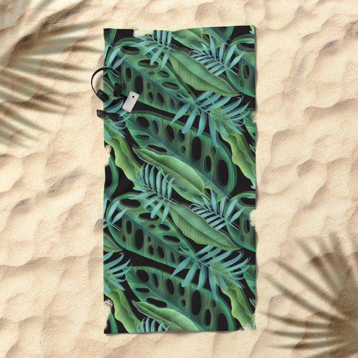 tropical again Beach Towel