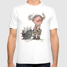 Cochon barbare LARGE White Mens Fitted Tee