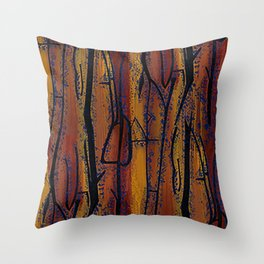 Brown Wood Throw Pillow