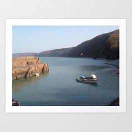 Clovelly Harbour North Devon UK Art Print