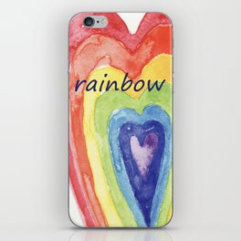 society6 cuore arcobaleno iPhone Skin
