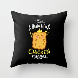 Funny Chicken Nugget Nug Life Fast-Food Junk Gift Throw Pillow