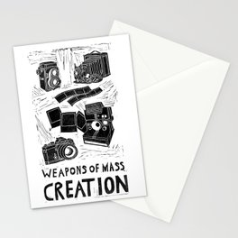 Weapons Of Mass Creation - Photography (blockprint) Stationery Cards