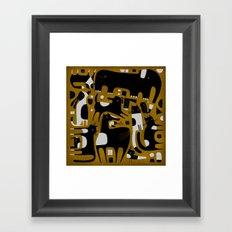 ANIMAL PATTERN BROWN Framed Art Print
