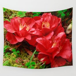 Fallen camellias Wall Tapestry
